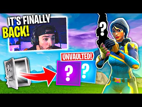 Fortnite Unvaulted The Most OVER POWERED Gun... - DefaultSkin